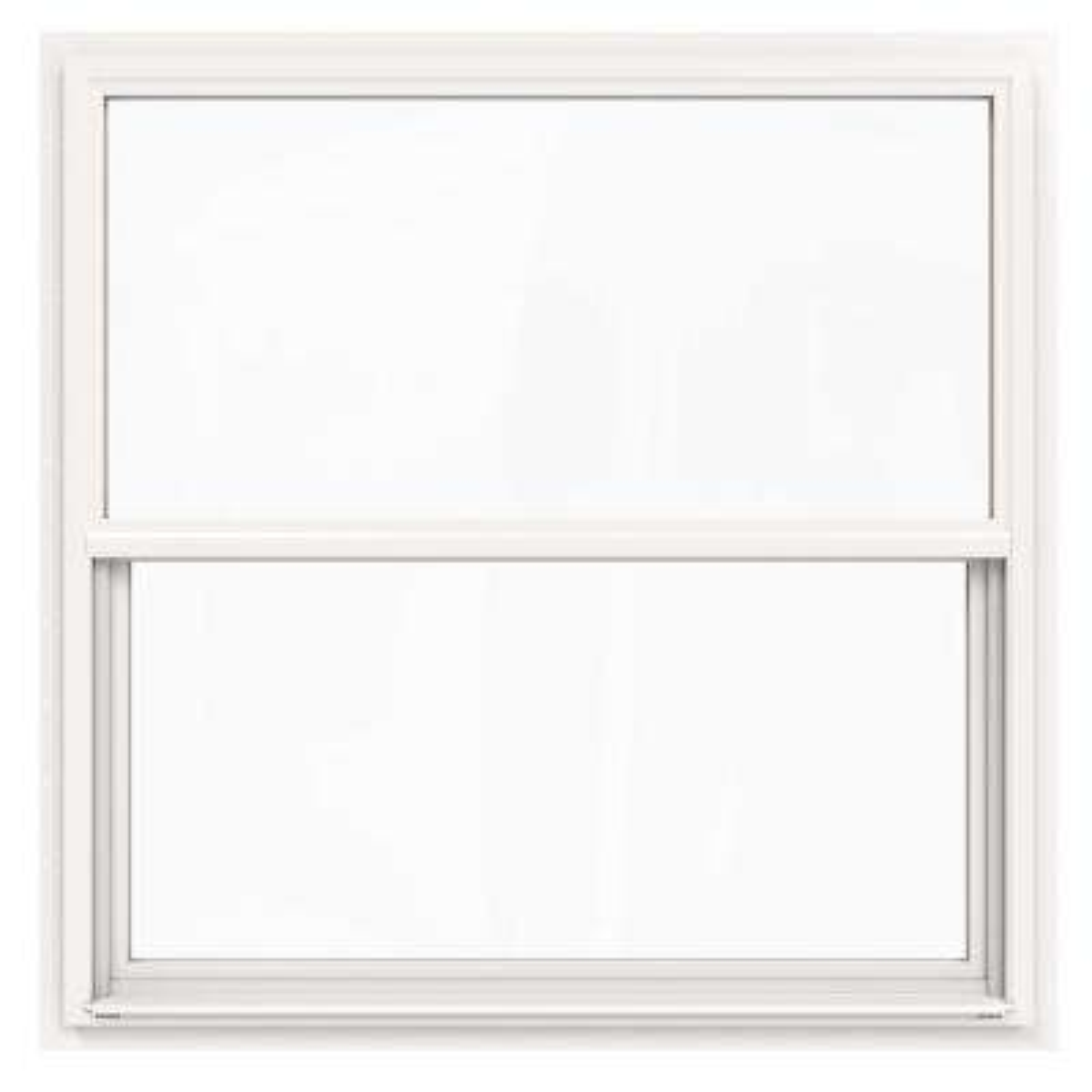48 in. x 48 in. V-4500 Series White Single-Hung Vinyl Window with Fiberglass Mesh Screen