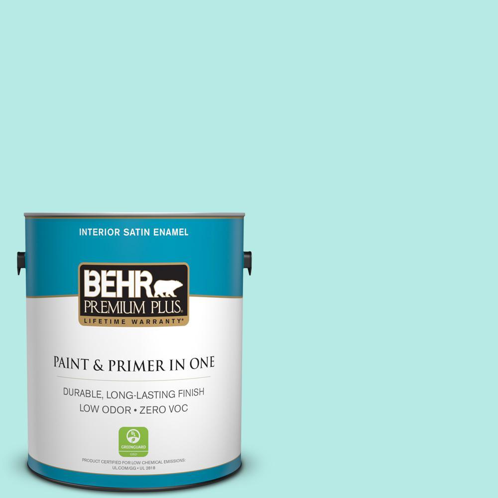 BEHR Premium Plus 1-gal. #P450-2 Tahitian Breeze Satin Enamel Interior Paint