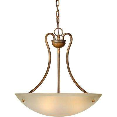 Burton 3-Light Rustic Sienna Incandescent Pendant