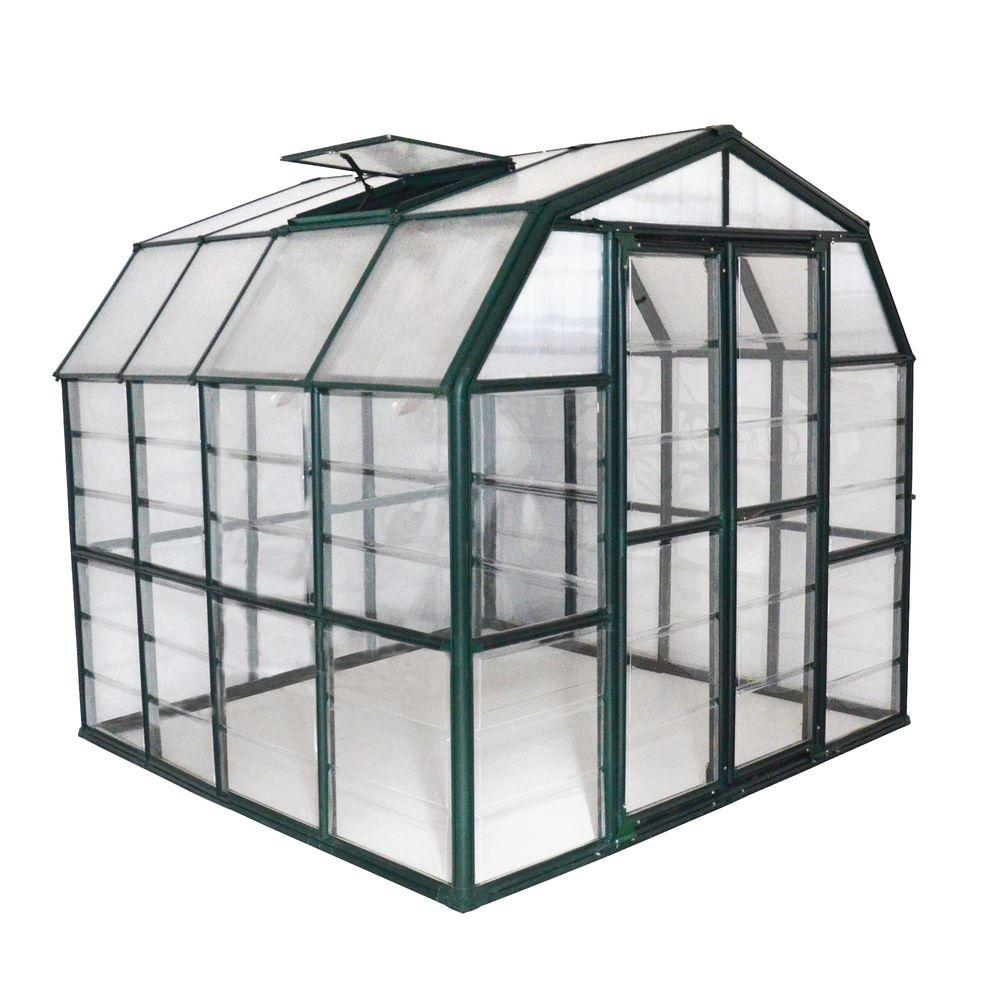 Rion Grand Gardener Clear 8 ft. x 8 ft. Greenhouse