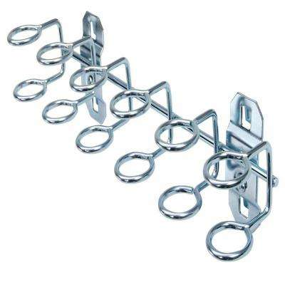 9 in. W x 3/4 in. I.D. Zinc Plated Steel Multi-Ring Tool Holder for LocBoard (2-Pack)