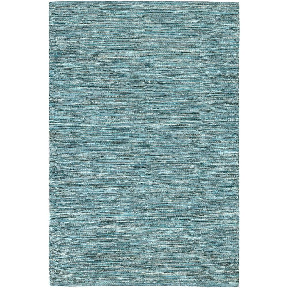 Chandra India Blue 3 ft. 6 in. x 5 ft. 6 in. Indoor Area Rug