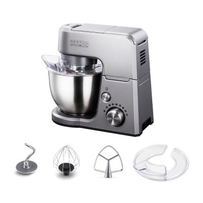 undefined-GM25 2.6 Qt. 7-Speed Tilt-Head Silver Stand Mixer with Whisk, Beater and Dough Hook Attachments