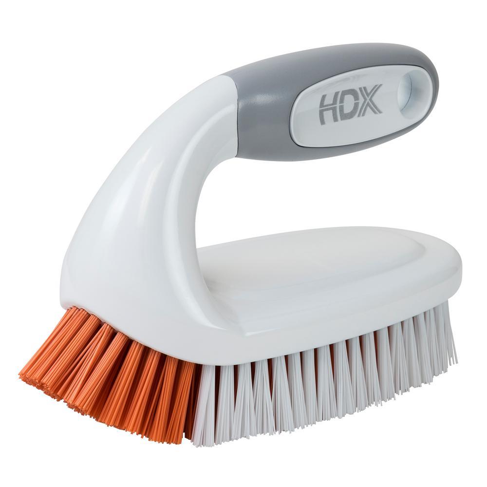 Scrub Brush with Iron Handle
