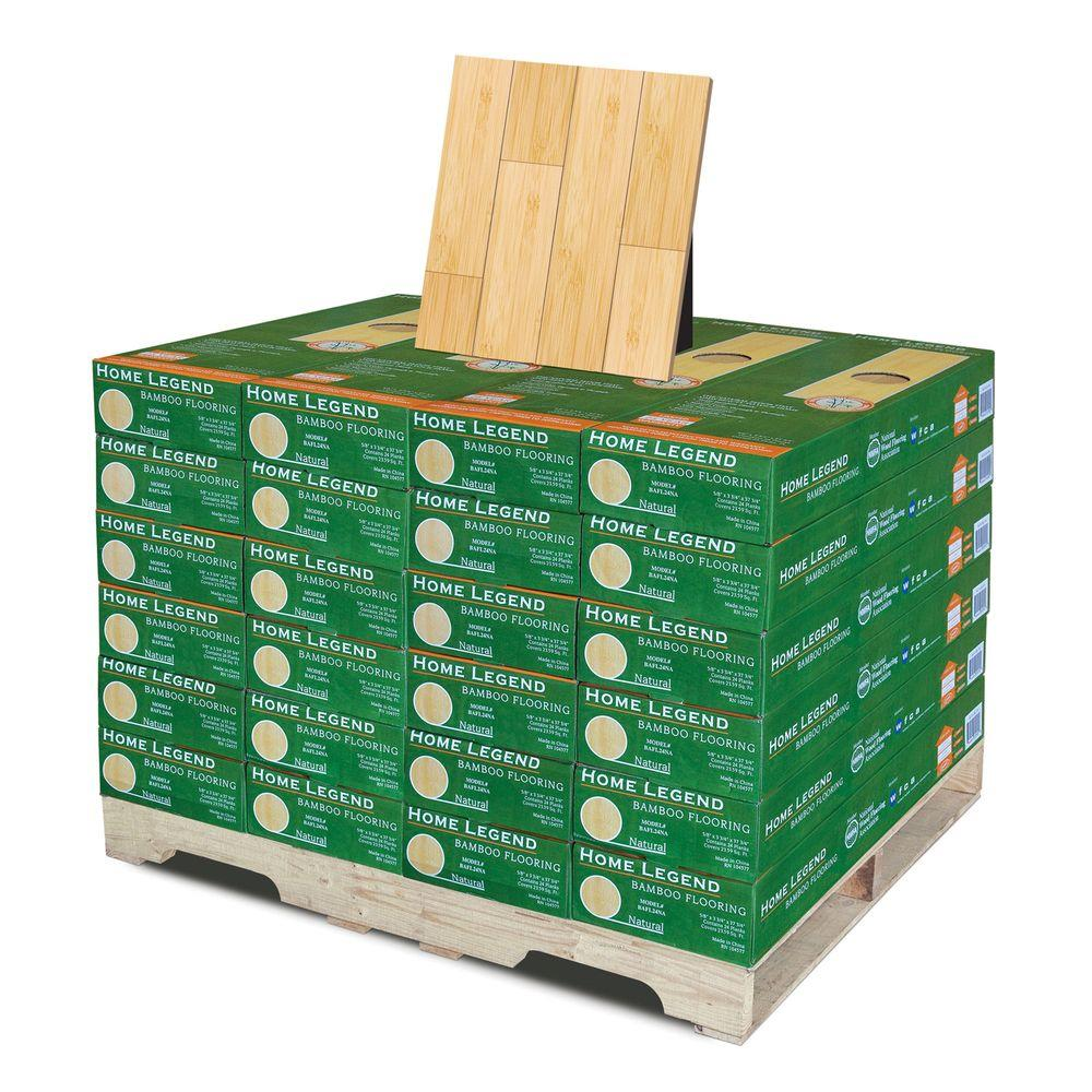 Home Legend Horizontal Natural 5/8 in. Thick x 3-3/4 in.Wide x 37-3/4 in. Length Solid Bamboo Flooring(24 case/566.16sq.ft./pallet)