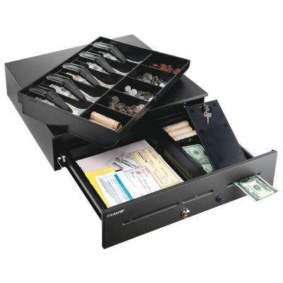High-Security Cash Drawer Safe with three media slots with removable tray