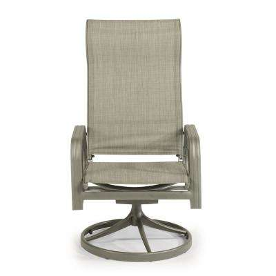 Daytona Charcoal Gray Swivel Aluminum Outdoor Dining Chair