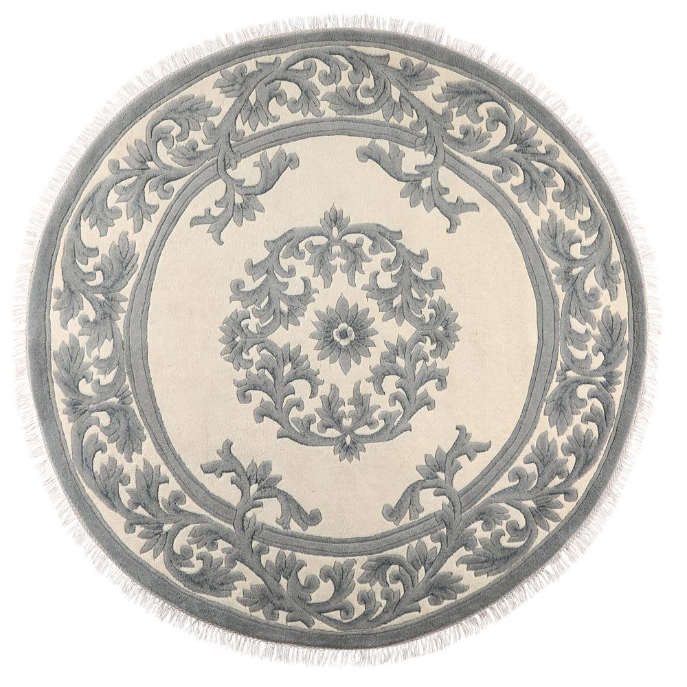 home decorators collection filigree aubusson blue 8 ft x 8 ft round area rug 2213745310 the. Black Bedroom Furniture Sets. Home Design Ideas