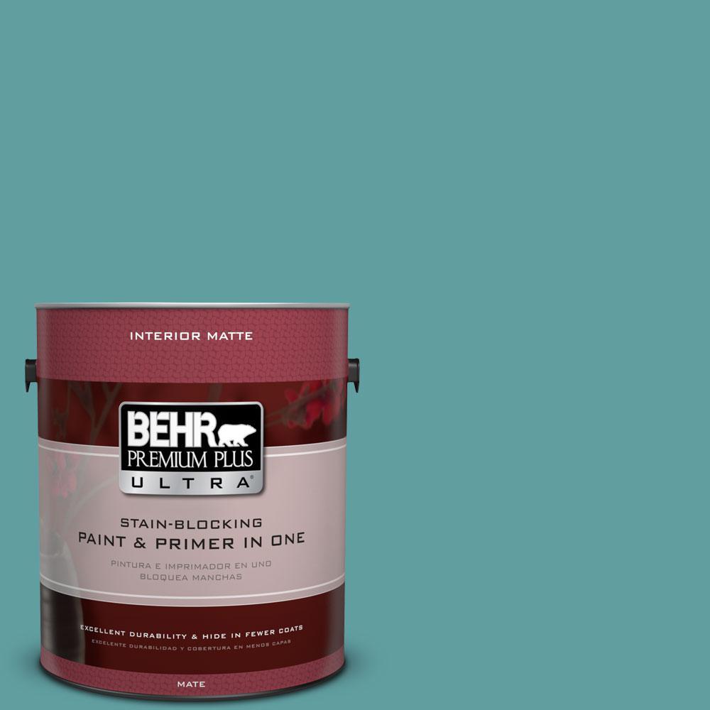 BEHR Premium Plus Ultra 1 gal. #PPU13-5 Bali Bliss Flat/Matte Interior Paint