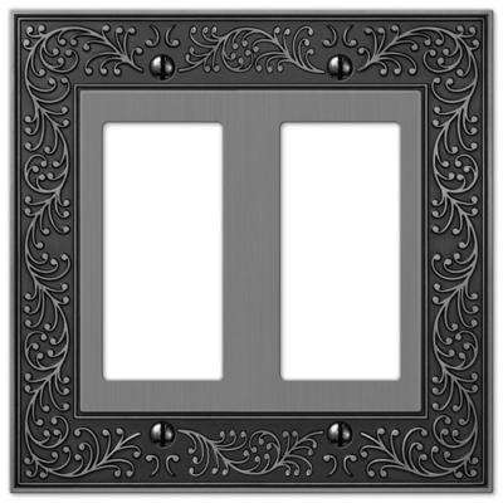 English Garden 2 Decora Wall Plate - Antique Nickel