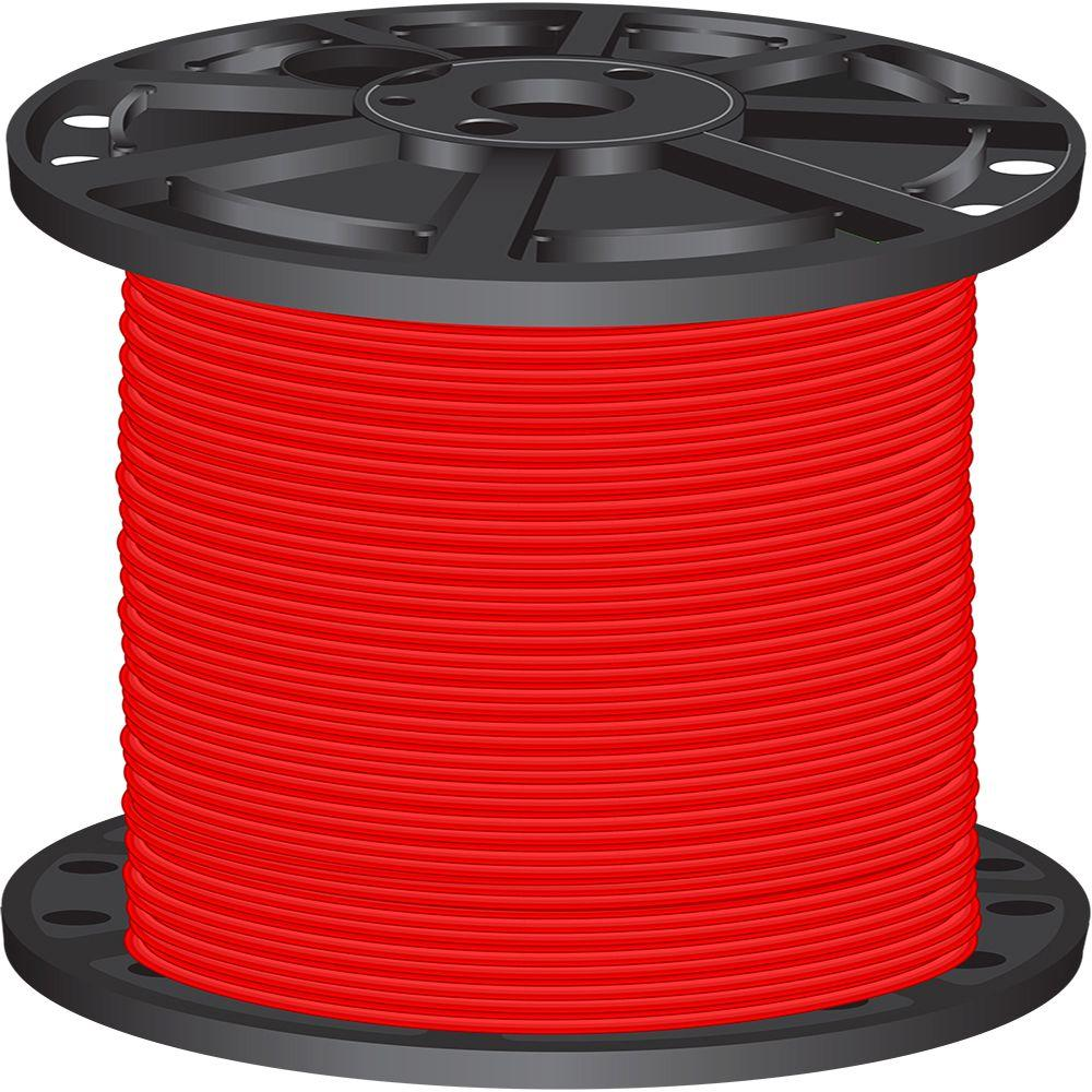 2,500 ft. 6 Red Stranded CU SIMpull THHN Wire