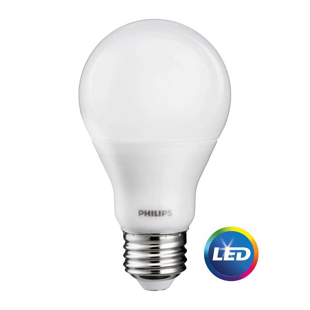 philips 60 watt equivalent cri90 a19 dimmable led light bulb soft white 465187 the home depot. Black Bedroom Furniture Sets. Home Design Ideas