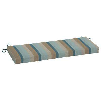 45 x 15 Sunbrella Gateway Mist Outdoor Bench Cushion