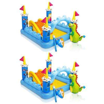 Fantasy Castle Inflatable Water Play Swimming Pool for Kids 2 Plus (2-Pack)