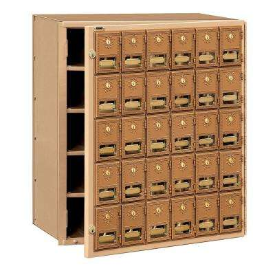 2000 Series Brass Front Loading Mailbox with 30 Doors