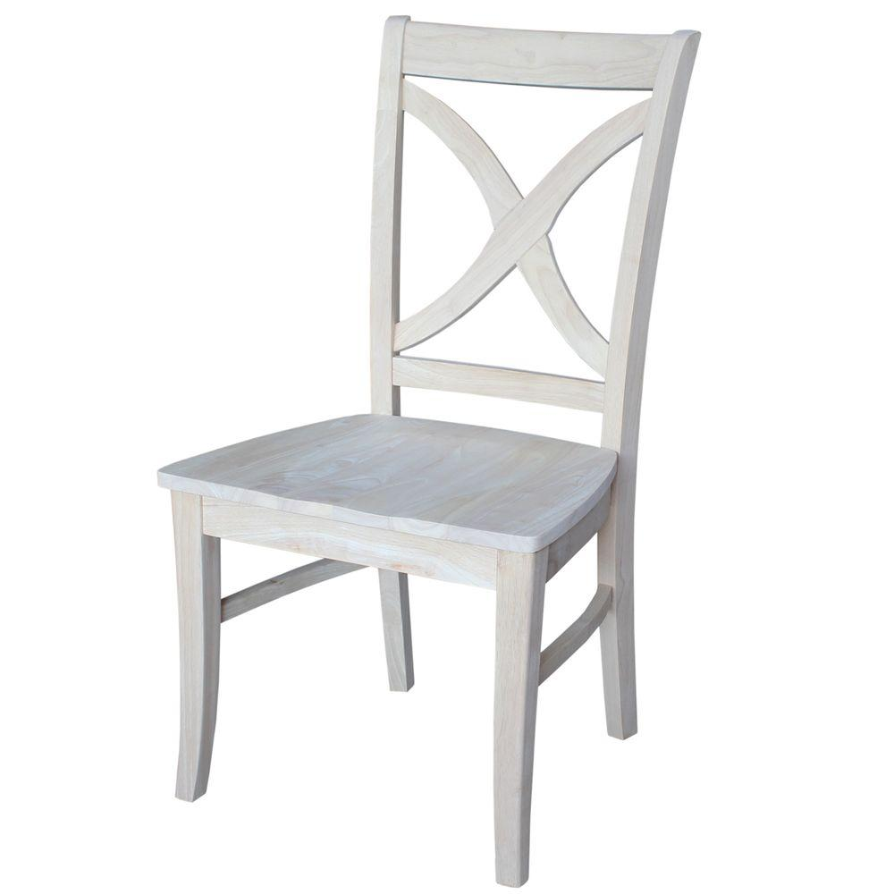 x back dining chairs. International Concepts Unfinished Wood X-Back Dining Chair (Set Of 2) X Back Chairs C