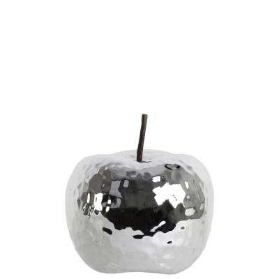 4.75 in. H Apple Decorative Figurine in Gray Polished Chrome Finish