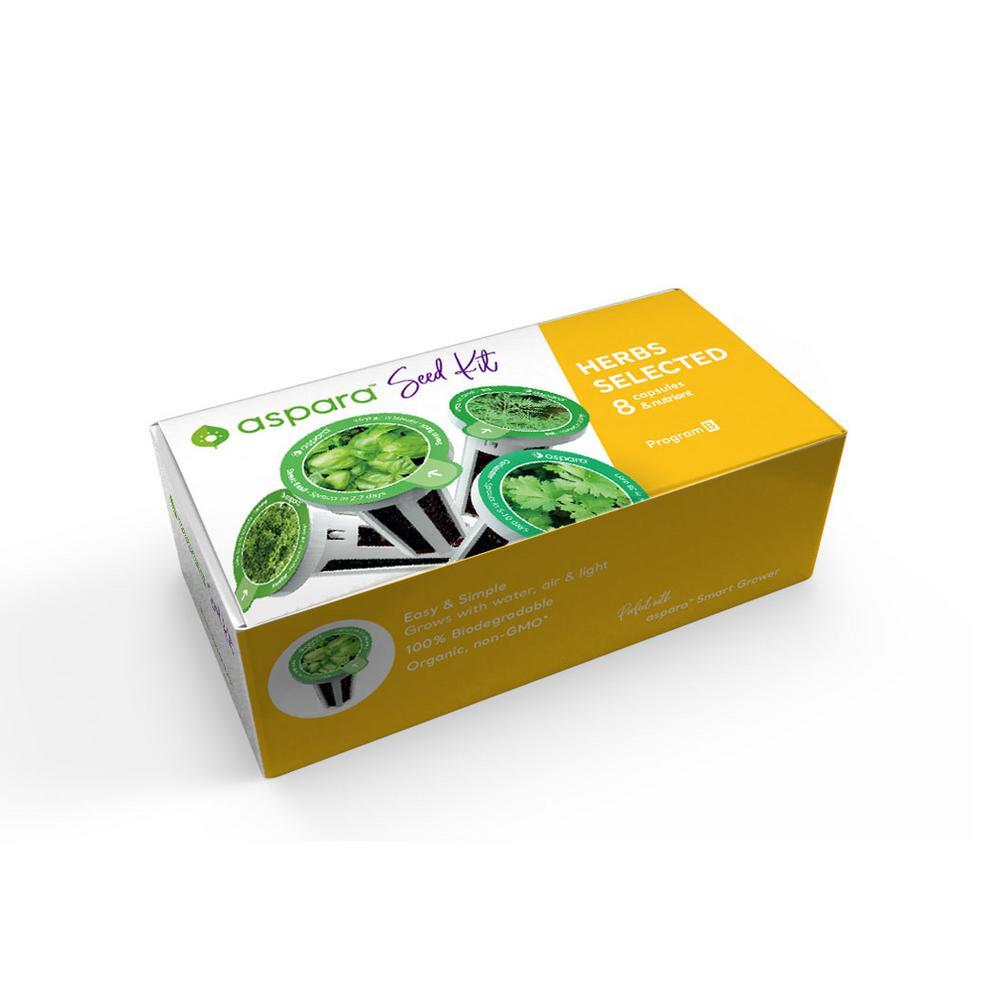 Organic Herb Selected 8 Capsule Seed Kit