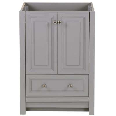 Brinkhill 24 in. W x 22 in. D x 34 in. H Bath Vanity Cabinet Only in Sterling Gray