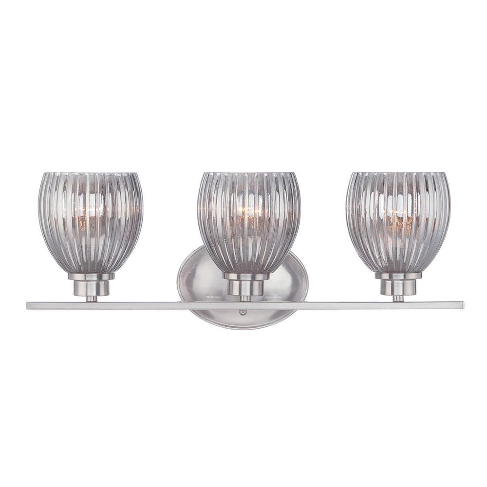 Sonata 3-Light Satin Platinum Bath Bar Light