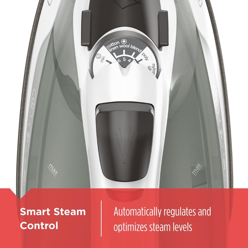 Black /& Decker 1200Watt High Performance Non-Stick Easy Smart Steam Compact Iron