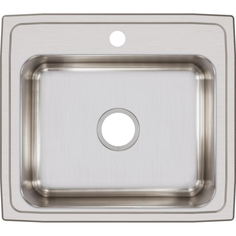 Elkay Lustertone Drop-In Stainless Steel 22 in. 1-Hole Single Bowl Kitchen Sink