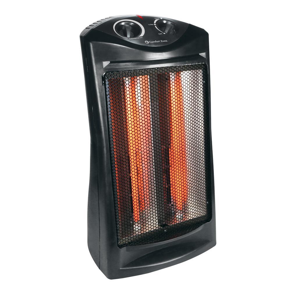 Comfort Zone 1500-Watt Electric Quartz Infrared Radiant Tower Heater
