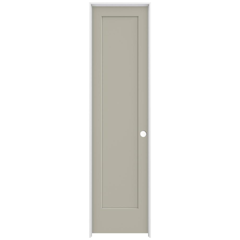 Jeld Wen 24 In X 96 In Madison Desert Sand Left Hand Smooth Solid Core Molded Composite Mdf