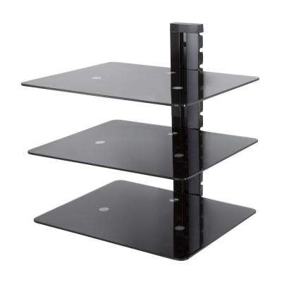 Wall Mounted AV Component Shelving Bracket, 3 Shelf