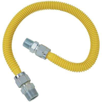 Gas Range and Gas Furnace Flex-Line (5/8 in. O.D. (3/4 in. MIP x 1/2 in. MIP) x 48 in.)