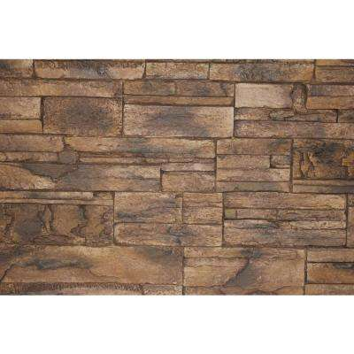Adobe Brown 8 in. x 8 in. x 3/4 in. Faux Tennessee Stone Sample