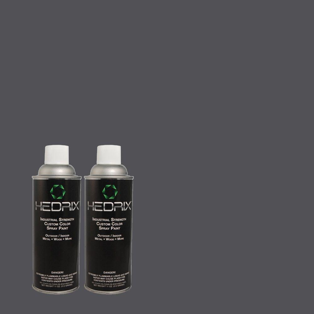 Hedrix 11 oz. Match of MQ5-54 Compass Blue Flat Custom Spray Paint (8-Pack)