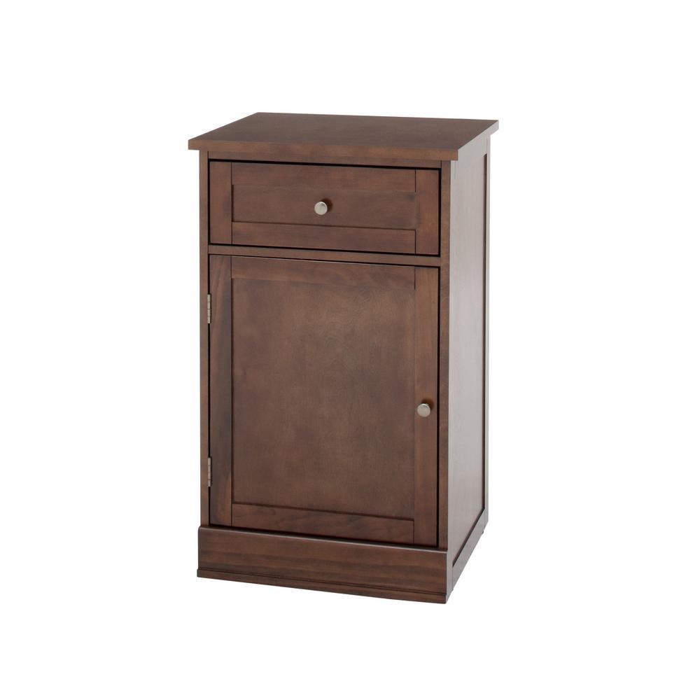 Home Decorators Bismark 1-Drawer Smokey Brown Modular Bench Cabinet