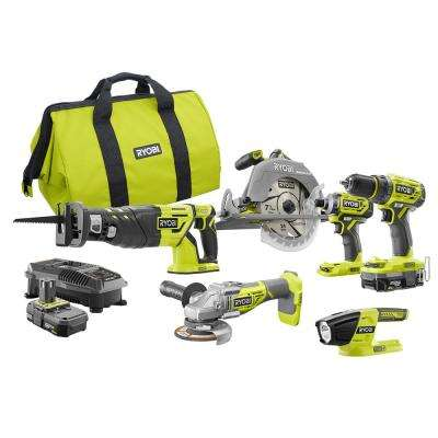 18-Volt ONE+ Cordless Brushless 6-Tool Combo Kit with (2) 2.0 Ah Batteries, 18-Volt Charger, and Tool Bag