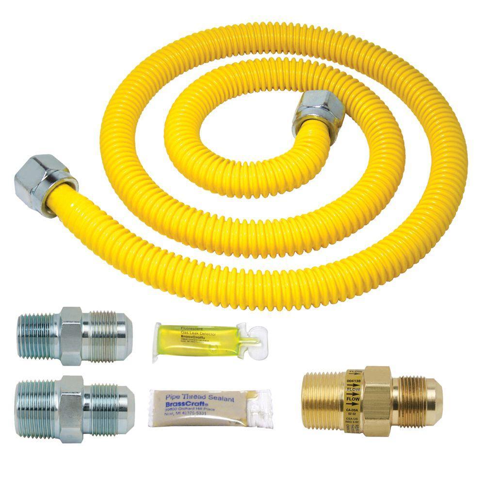 Brasscraft Safety+PLUS Gas Installation Kit for Range, Furnace and Boiler (106,000 BTU) by BrassCraft