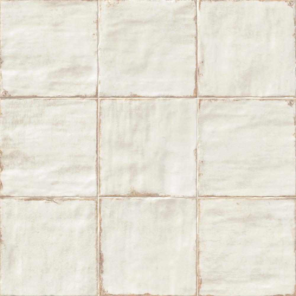 Ivy Hill Tile Angela Harris White 8 in. x 8 in. x 9mm Polished Ceramic Wall Tile (25 pieces / 10.76 sq. ft. / box)