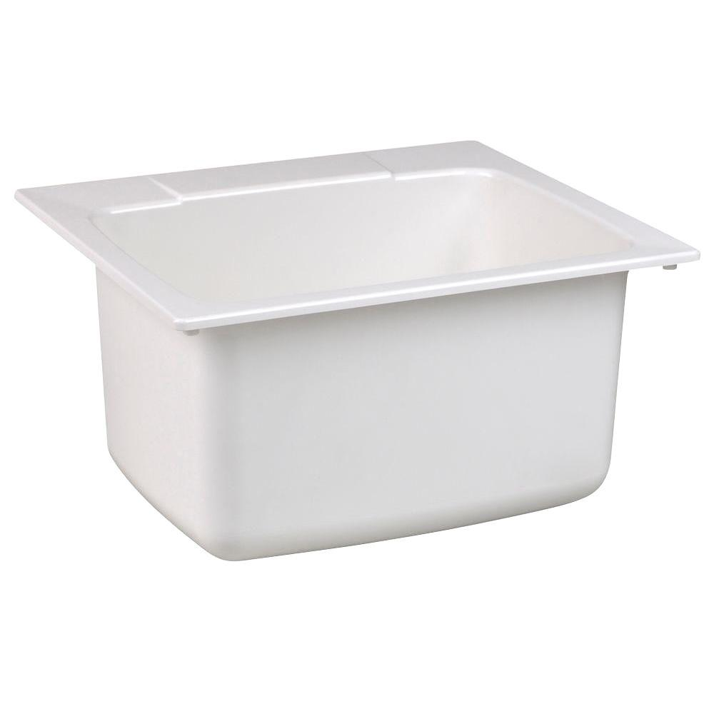 Molded Fiberglass Self Rimming Utility Sink In