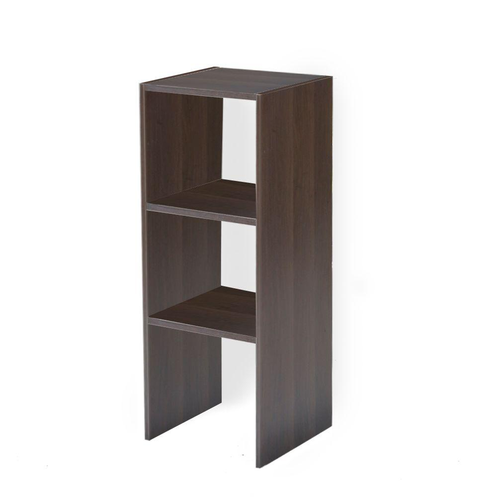 Stackable shelves - Brown - Wood Closet Systems - Wood Closet ...