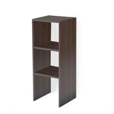 11.5 in. D x 12 in. W x 31.5 in H Mocha Stackable Storage Wood Closet System Organizer