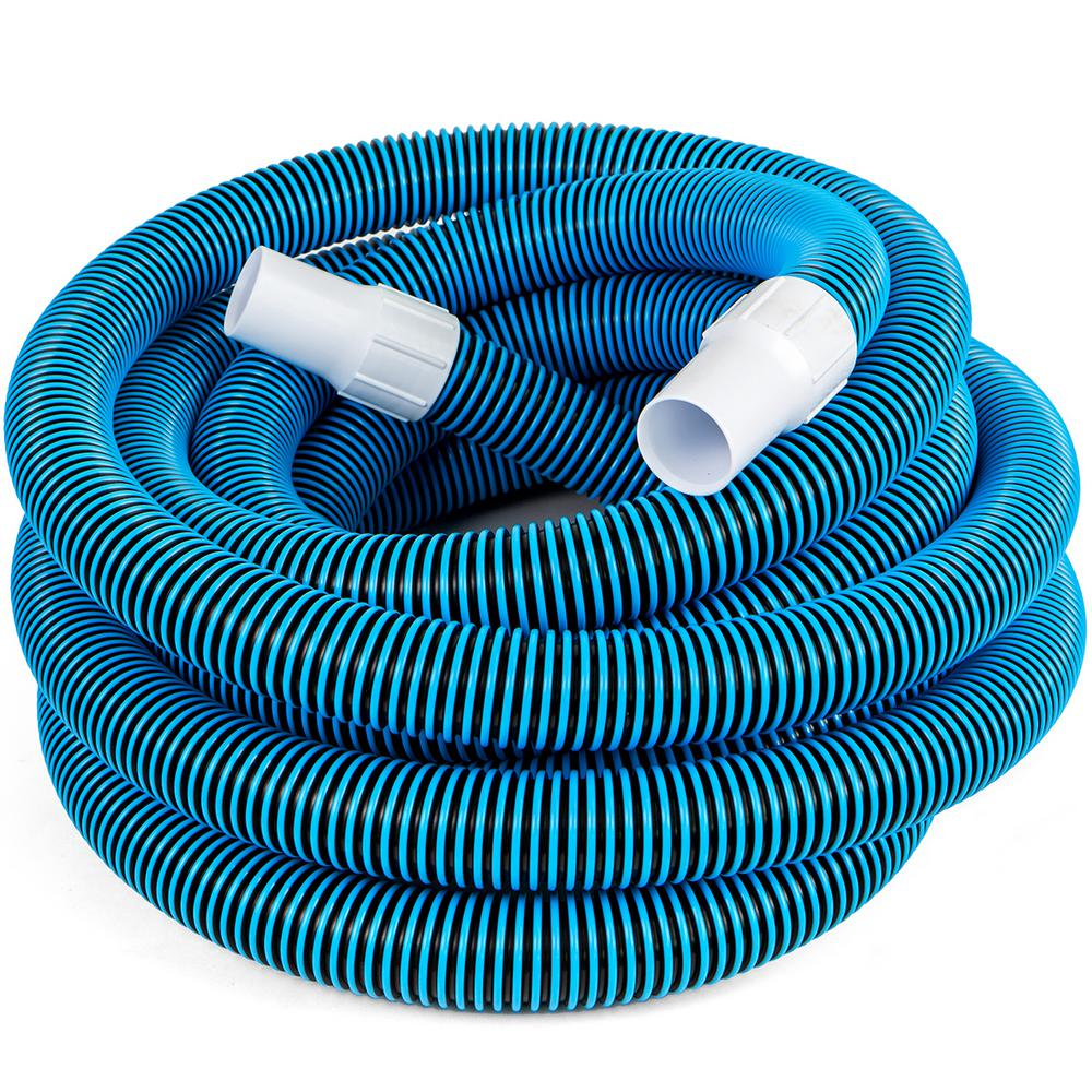 NorthLight Blue Blow Molded PE In Ground Swimming Pool Vacuum Hose 36 ft x 1.25 in.
