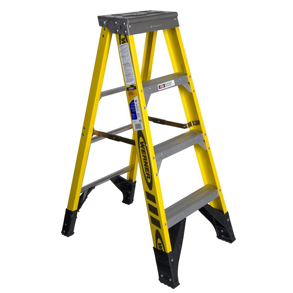 4 ft. Fiberglass Step Ladder with 375 lb. Load Capacity Type