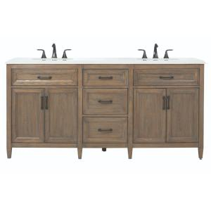 Home Decorators Collection Walden 71 inch W x 22 inch D Double Bath Vanity in Driftwood... by Home Decorators Collection