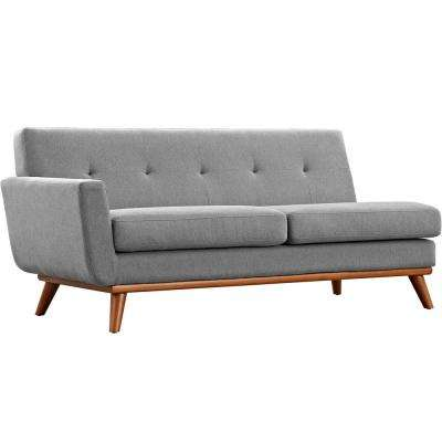 Engage Expectation Gray Left-Arm Loveseat