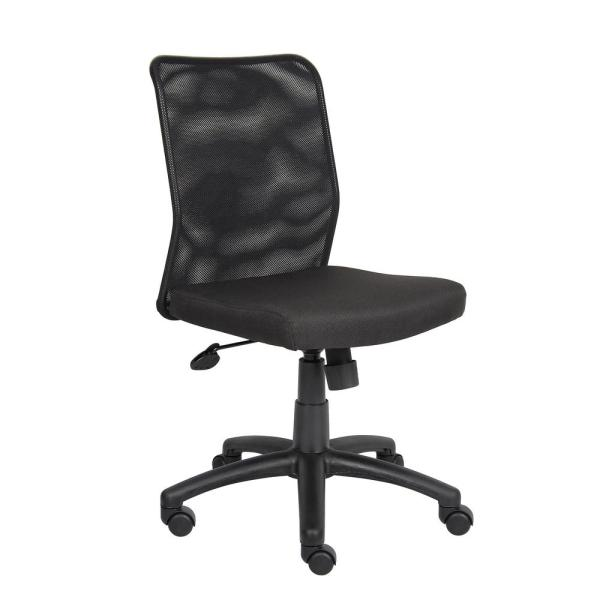 HomePro Mesh Task Chair Black Mesh Back and Black Linear Mesh Fabric Seat Pneumatic Lift