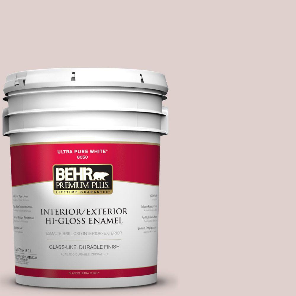 BEHR Premium Plus 5-gal. #N150-1 Mocha Ice Hi-Gloss Enamel Interior/Exterior Paint