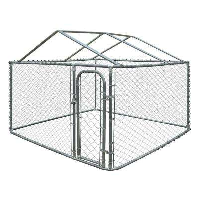 4 ft. H x 7.5 ft. W x 7.5 ft. L Dog Kennel with Roof Frame