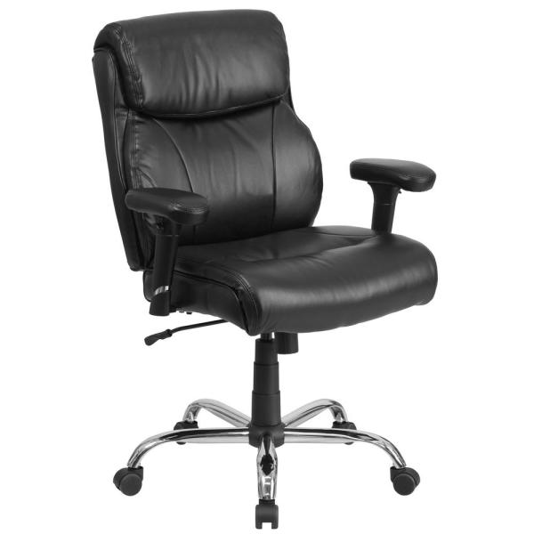 Flash Furniture Black Leather Office/Desk Chair GO2031LEA