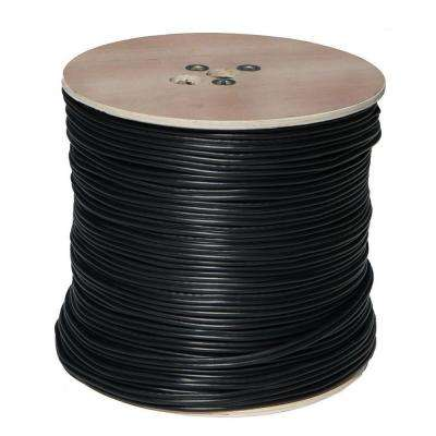 1000 ft. RG59 Coaxial Cable with Power Cable - Black