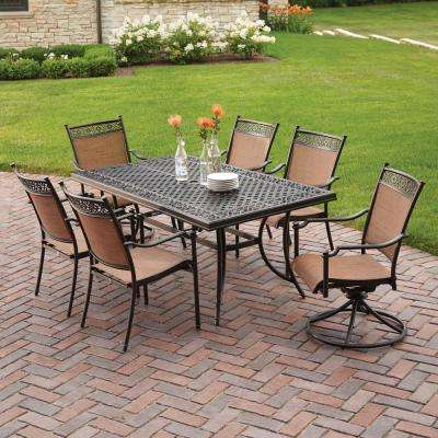 Niles Park 7-Piece Sling Patio Dining Set - Cast Aluminum - Patio Dining Furniture - Patio Furniture - The Home