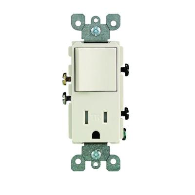 Leviton Decora 15 Amp Tamper Resistant Combo Switch and Outlet,  White-R62-T5625-0WS - The Home DepotThe Home Depot